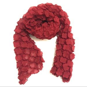 Christopher Straub for Maurices Red Textured Scarf